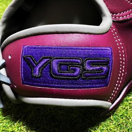 YGSセンスシリーズ 軟式投手用 YP2 ワインパープル×グレー