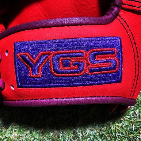YGSセンスシリーズ 軟式内野用 YI37 レッド×ワインパープル×パープル