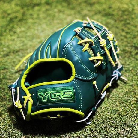 YGSセンスシリーズ 軟式内野用 YI37 ダークグリーン×ライム×蛍光グリーン