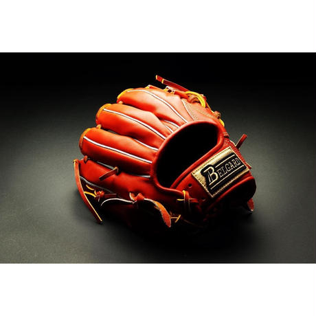 ベルガード武州和牛ストロングレザーシリーズ、内野手用BB-103、オレンジブラウン