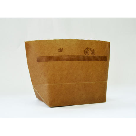 WAX PAPER MARCHE BAG  bicycle