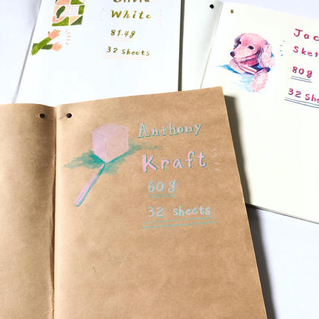 PLAIN THREE NOTEBOOKS