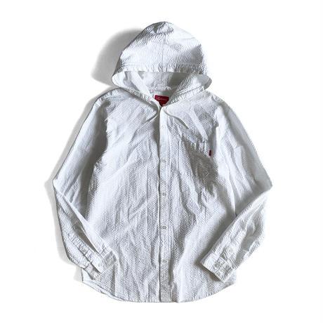 Hooded Seersucker Shirt by supreme