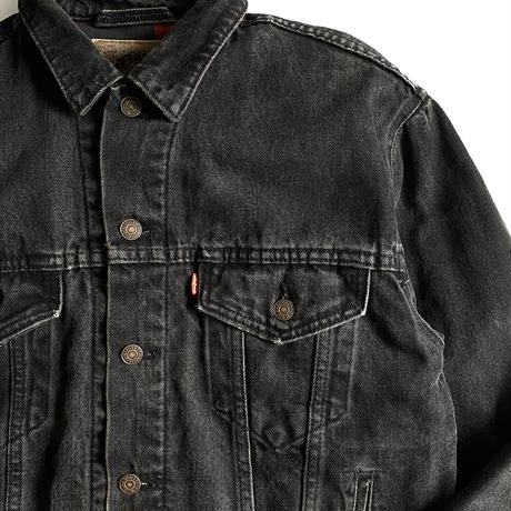 Levi's 70427 BLK Denim Trucker JKT Flannel Liner