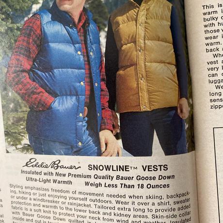 70's  Eddie Bauer SNOWLINE DOWN VEST