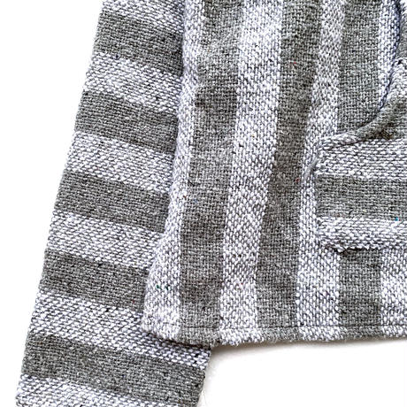 Drug Rugs MEXICAN PARKA GRAY STRIPE