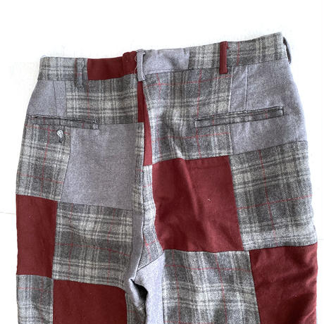 80's Patchwork Wool Pants
