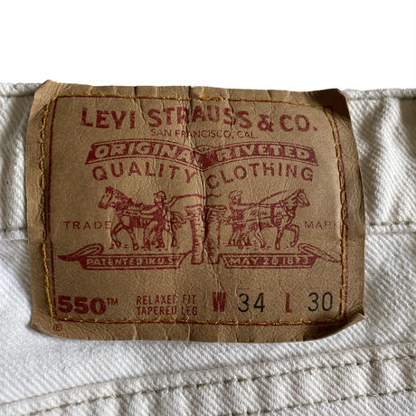 Levi's 550 Off White Made in USA