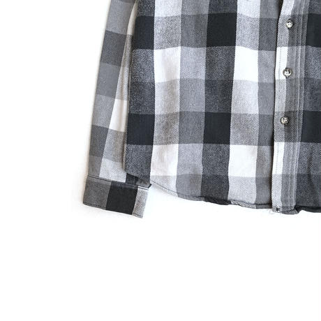 FIVE BROTHERS Heavy Flannel Shirt BLK/WHT