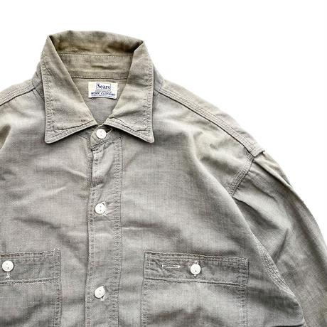 Sears GRAY Chambray Shirt