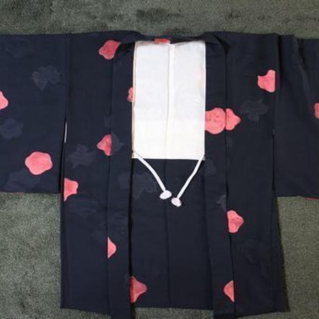 <TUTAE>Haori1004  black with red ume blossoms