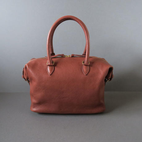 ・・・ご注文作品・・・boston bag (red brown)