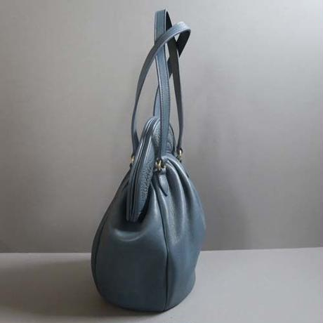 stitch hand bag (blue)