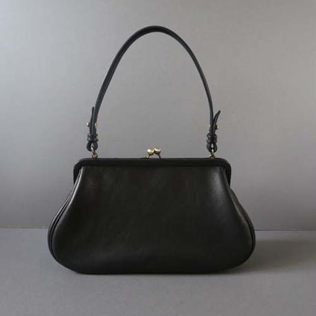 plain gama hand bag-round (black)
