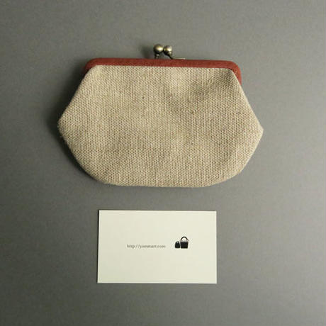 flat gama case (linen×brown) S