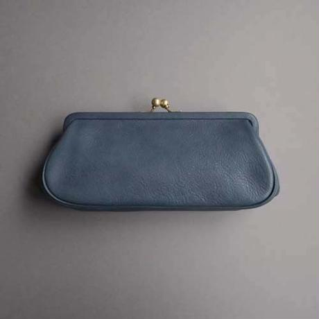 plain gama long wallet (blue)