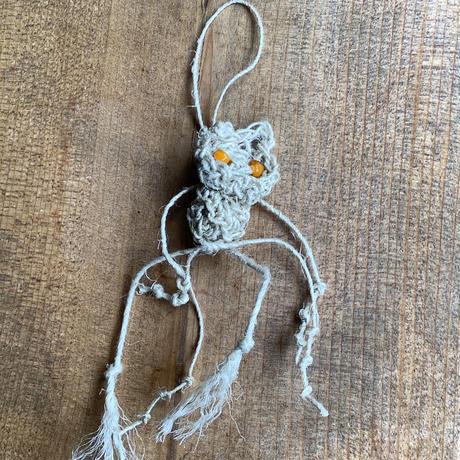 アイダミホコ  ネコマタアロマストラップ・ラベンダー(橙)