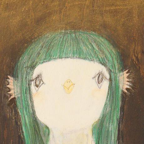 サトウツトム アマビエちゃん/板絵 〜『鳥ことり展』5/8〜5/16