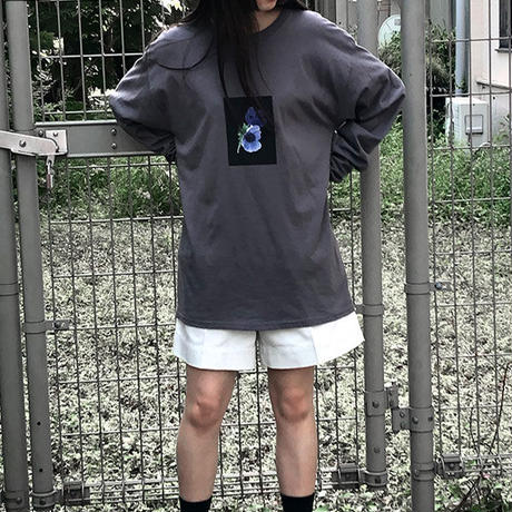 【ya-20005】_flower long T shirt