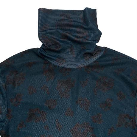 【ya-211017】_leaf pattern tulle tops
