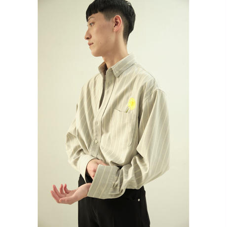 【ya-210003-2】_button down shirt flower