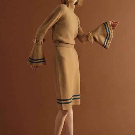 【ya-19118】_sleeve flare knit