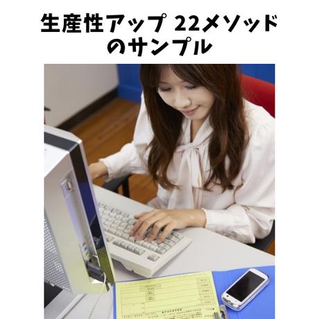 デスクワーカーが生産性アップして自分自在になるための22メソッド 【PDF】のサンプル版