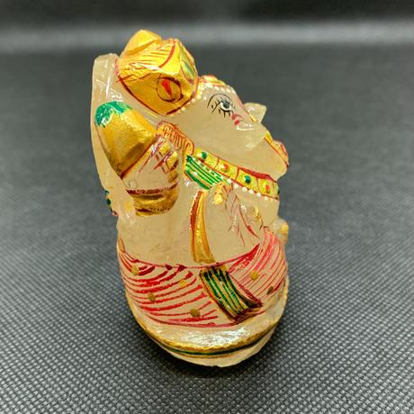 ガネーシャ様 ヒマラヤ水晶彩色 222g