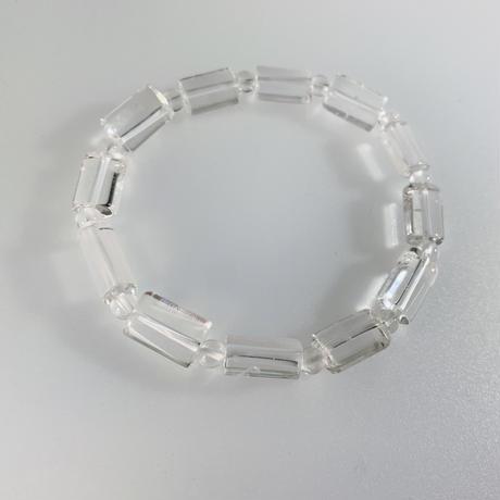 天然水晶 筒型カット ブレスレット