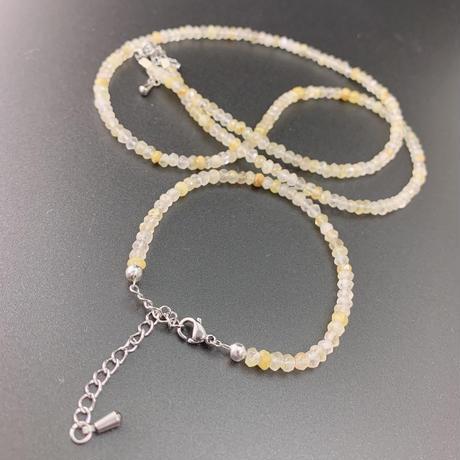ゴールドルチル  ネックレスとブレスレットのセット