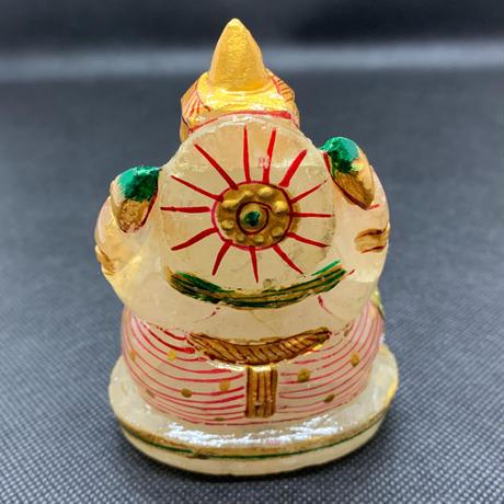ガネーシャ様 ヒマラヤ水晶彩色 305g