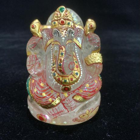 ガネーシャ様 ヒマラヤ水晶彩色 332g