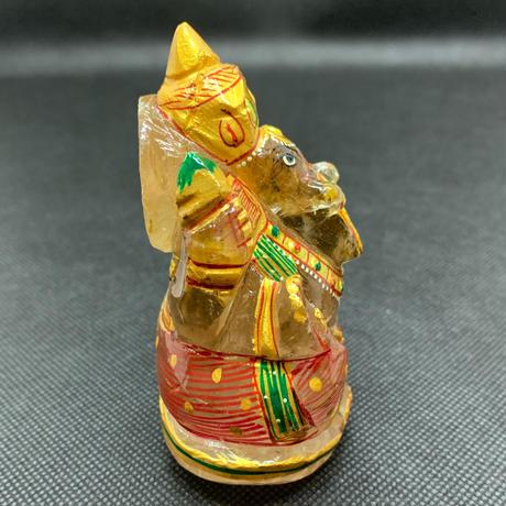 ガネーシャ様 ヒマラヤ水晶彩色 239g