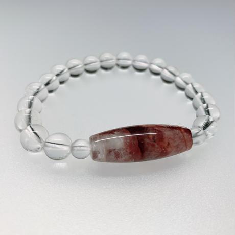 人気の高いマニカラン水晶の天珠型と水晶のブレスレット