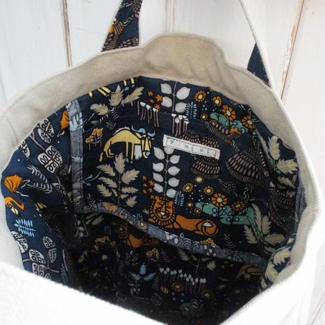 レトロな帆布バッグ(縦型・ベージュ)
