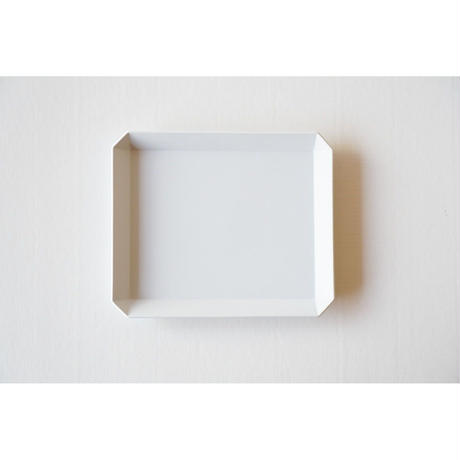 TY Square Plate / Plain Gray /  165