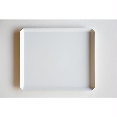 TY Square Plate / Plain Gray /  270