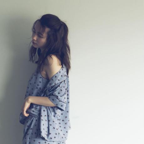【予約商品】002105 / フラワードットプリントパジャマ 3点セット【E】