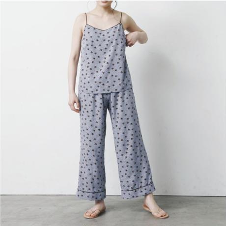 【予約商品】002104 / フラワードットプリントパジャマ 2点セット【D】