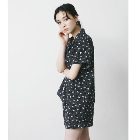 【予約商品】002101 / フラワードットプリントパジャマ 2点セット【A】