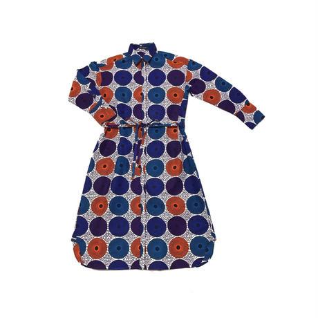 shirt dress ( water drop:orange✖️blue✖️purple)