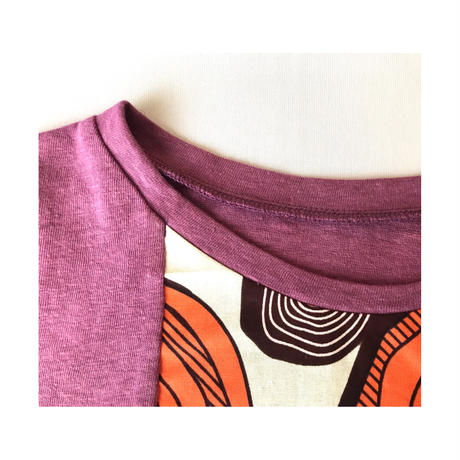relax dress (lilac×purple×papaya)
