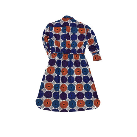 shirt dress ( water drop:orange✖️blue✖️purple)