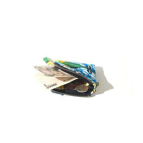 ミニ財布 《ブルー×グリーン×イエロー》