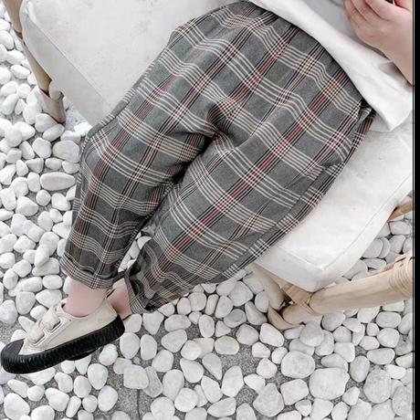 【3色展開】チェックスラックス