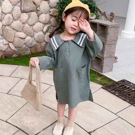【2色展開】とんがりセーラー襟ワンピ