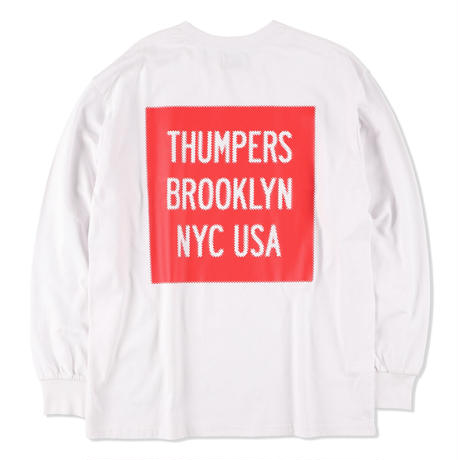 THUMPERS NYC Pixel Logo L/S TEE 2COLORS