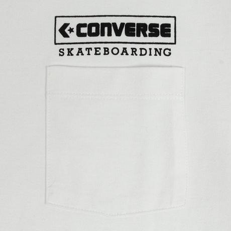 CONVERSE SKATEBOARDING  LOGO S/S POCKET TEE  [WHITE]