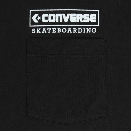 CONVERSE SKATEBOARDING  LOGO S/S POCKET TEE  [BLACK]