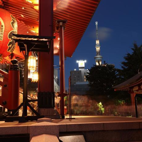 日本の浅草、美しき色